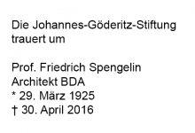 † Prof. Friedrich Spengelin